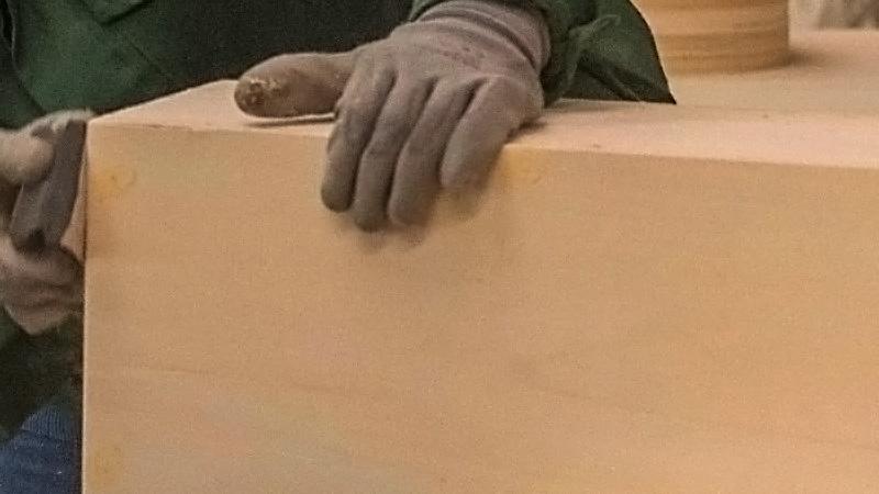 Homo Faber homofaber barna de lemn slefuire
